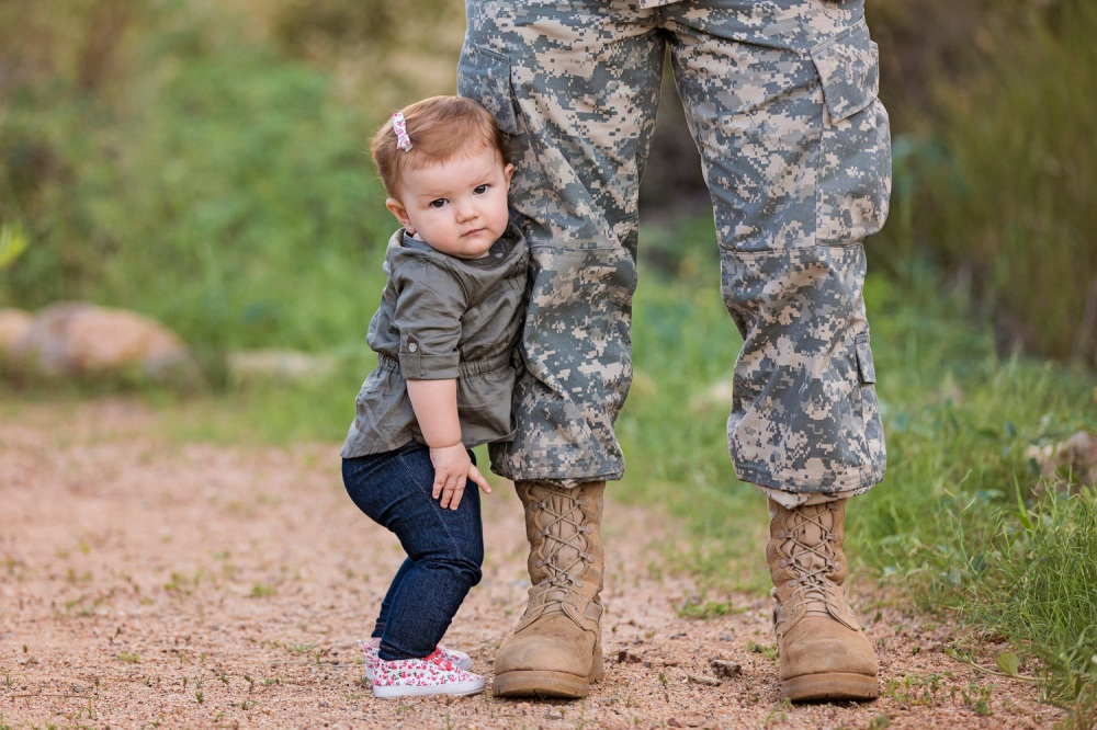 Baby and soldier